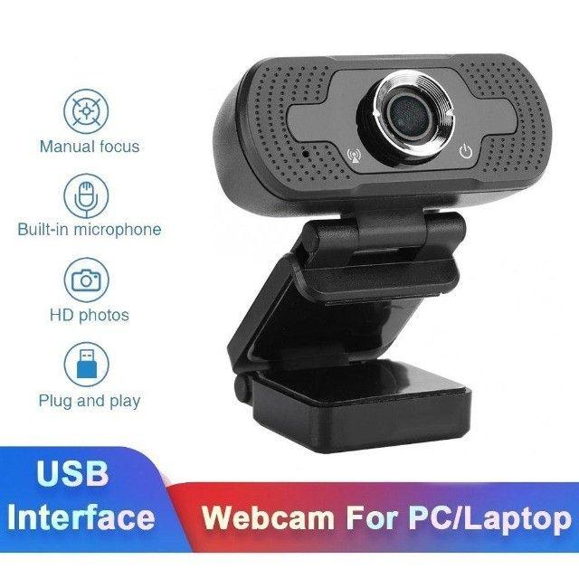 Webcam Microfone Câmera Full Hd 1080p Computador Plug & Play Microfone Embutido - Foto 5