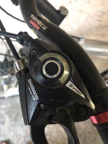 Bicicleta MTB Quadro 17 Aro 26 Kit Shimano - Foto 5