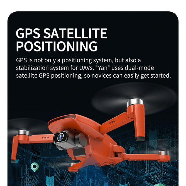 Drone SG108 com duas baterias-cor Laranja- Pronta entrega - Foto 2
