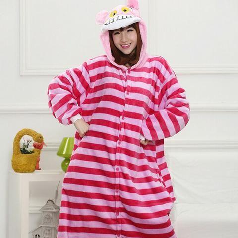 100c584d49fcd5 Fantasia para Adulto Gato Cheshire do Alice no País das Maravilhas Pijama  Promoção