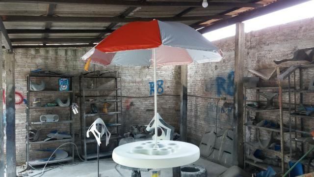 Mesa flutuante com cooler e porta copos para piscina - Foto 6