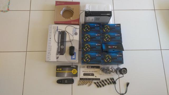 Kit Câmeras de Segurança Standalone 8 multicanais vigilância noturna