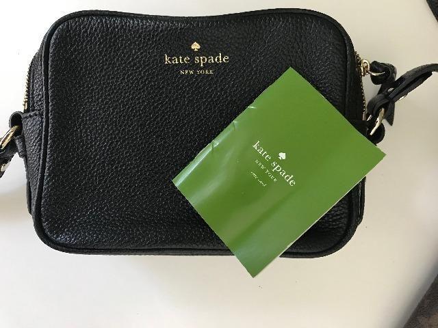fb0d73ad871 Bolsa Kate Spade Couro Preta Pequena