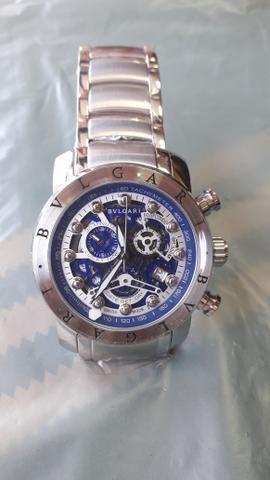 65ab882f145 Relógio Bvlgari Iron Man Prata - Bijouterias