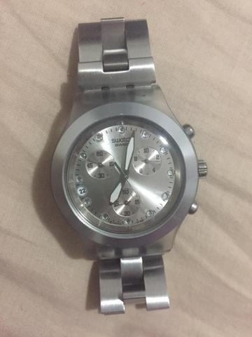 ac095db4e71 Relógio original SWATCH prata 230