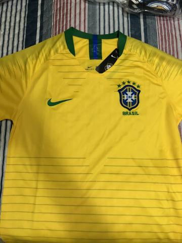 1b04923290002 Camiseta Nike Seleção Brasileira SN Tamanho M Nova - Esportes e ...