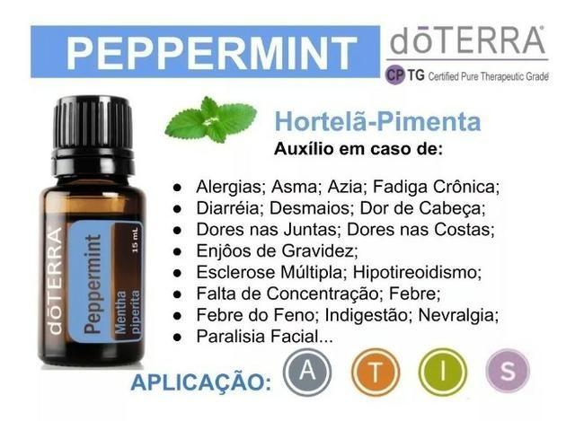 Óleo Essencial de Hortelã-Pimenta Peppermint - O melhor óleo Doterra