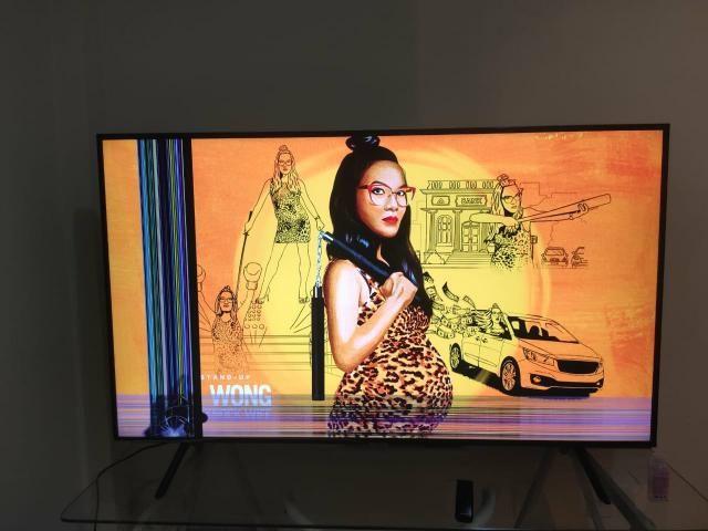 """Smart TV LED 55"""" Samsung RU7100 4K HDR 55RU7100"""