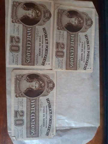 3 cédulas 20 Centavos Republica Portuguesa 1925 - Foto 3