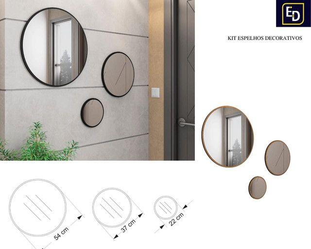 Kit c/ 3 Espelhos Decorativos Carisma // Entregamos