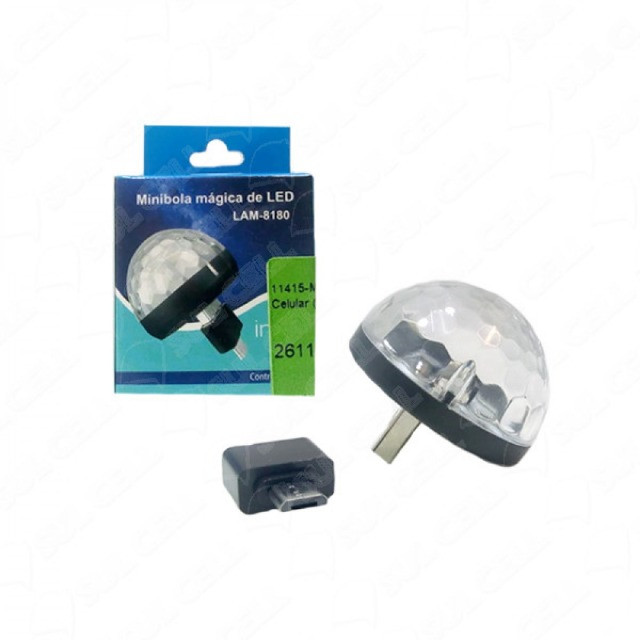(WhatsApp) mini bola mágica de led - lam-8190
