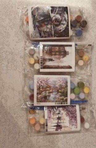 Kit pintura terapêutica - pintura com números colorir - Foto 3