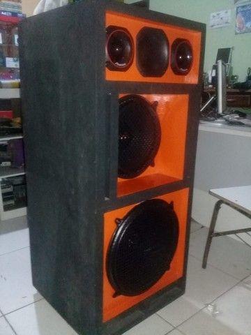 caixa de som completa fones de 12 e 15 magnun 350w novos - Foto 2