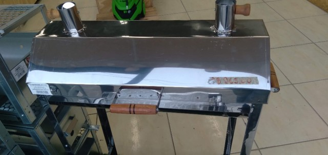 Churrasqueira Portátil aBafo N01  Inox - a Carvão