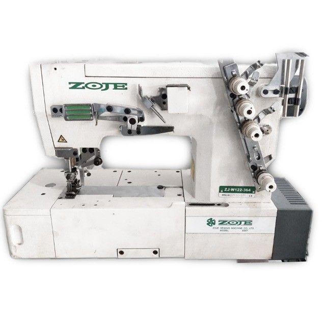 Máquina de Costura Industrial Colarete Usada Zoje  (Entregue Completa)