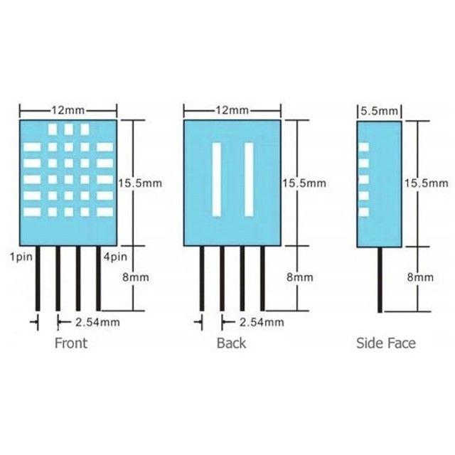 Módulo Sensor De Umidade E Temperatura Dht11 Arduino Pic Arm - Foto 2