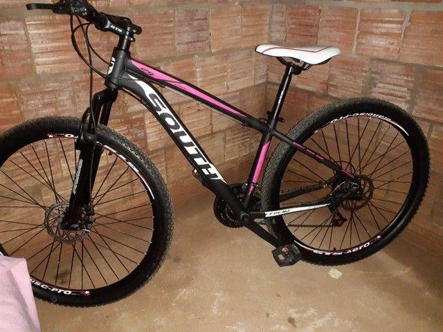 Vendo bicicleta aro 29 baik pra passeio 3 dias de uso - Foto 2