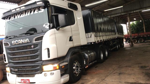 Scania g420 Bitrem randon