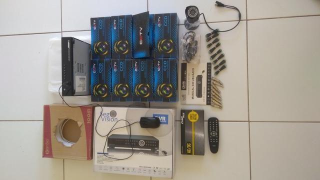 Kit Câmeras de Segurança Standalone 8 multicanais vigilância noturna - Foto 2