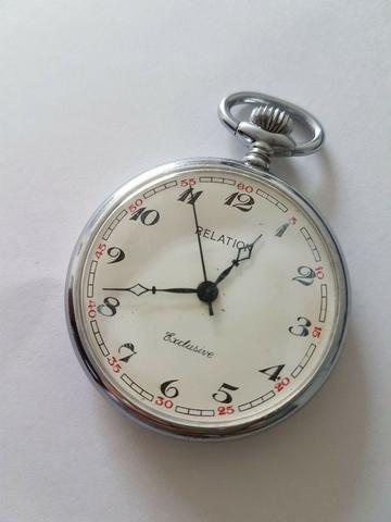 f76b926f2b3 Relógio De Bolso Suiço Marca Relation - Antiguidade - Antiguidades ...