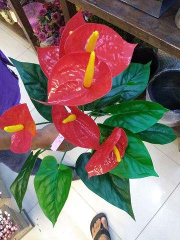 Antúrio Planta Grande Artificial Decorativa  - Foto 2