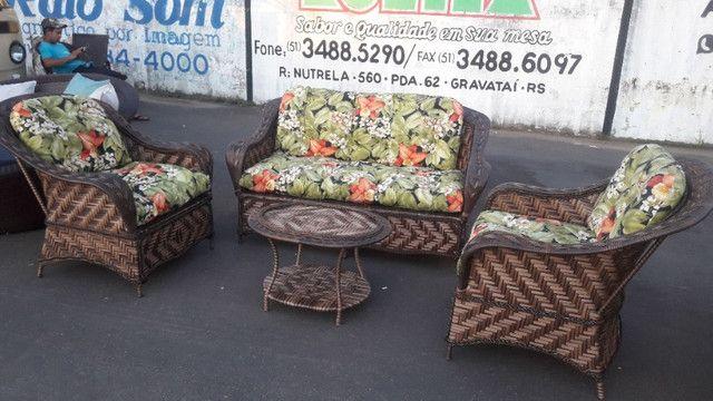 Conjunto de sofá campinas em fibra sintética - Foto 3