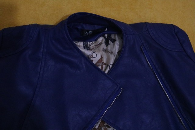 Jaqueta de couro sintético Old school- Tam. M - Foto 3