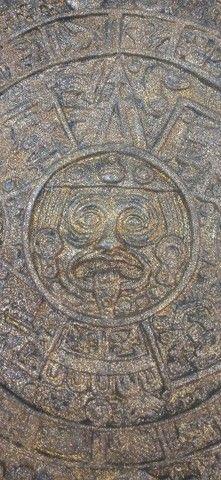 Calendário Asteca Envelhecido - Foto 2