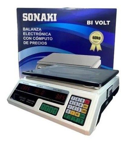 Balança Eletrônica Digital 40kg Recarregável Completa<br><br><br>