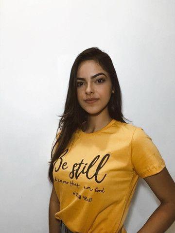 T-shirts Femininas - Foto 3