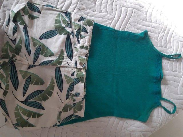 Conjuntos de shorts e blusas infantojuvenil  - Foto 4