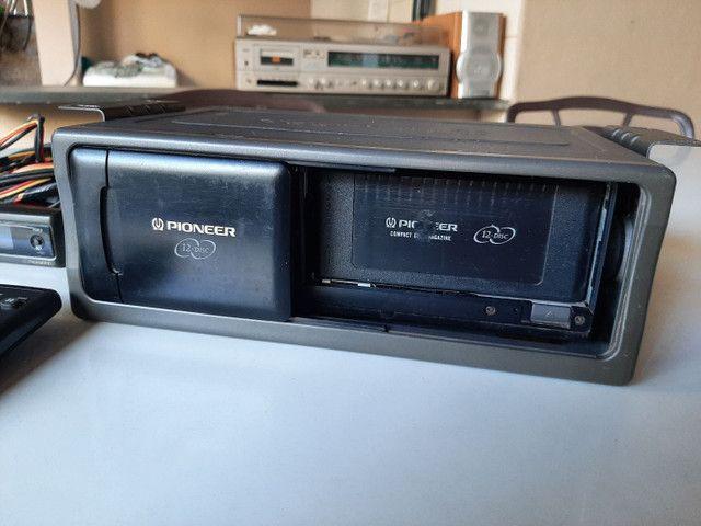 Disqueteira Pioneer 12 cds 100% ok - Foto 2