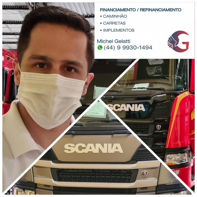 Scania g380 g420 volvo fh 440 460 mb iveco man carretas graneleiro cacamba - Foto 3