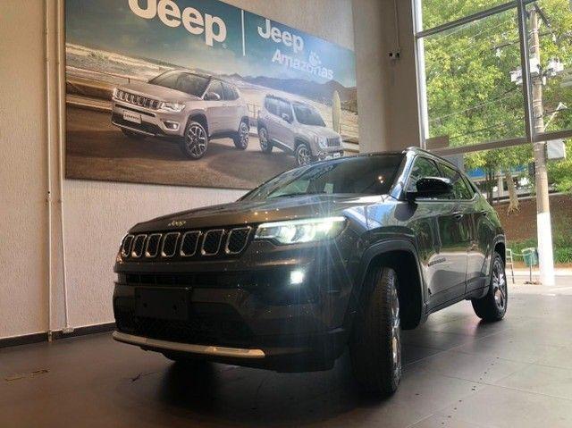 Jeep Compass Limited Diesel - 2021/2022 2.0 TD350 Turbo AT9 - Foto 2