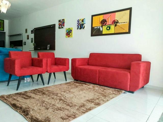 Sofa 3 lugares com 2 poltronas