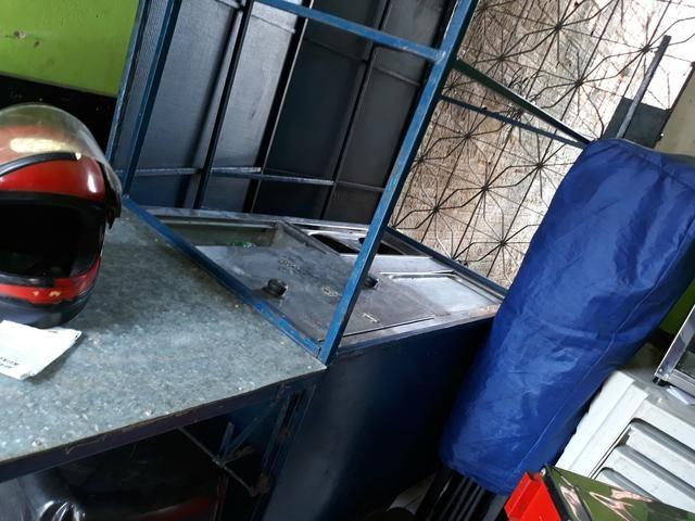 Vendo carrinho de lanche e uma tenda barraca azul