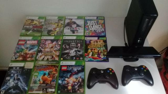 Xbox 360 - 250 Gb - Kinect E 1000 Reais Em Jogos (total 31)