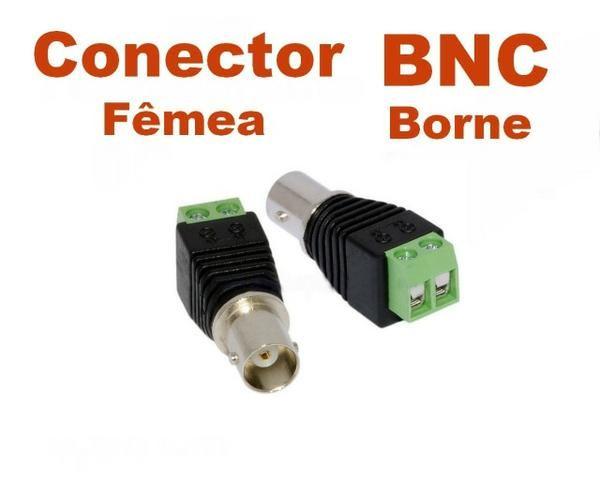 Conector/adaptador BNC Femea com borne (P/ CFTV)