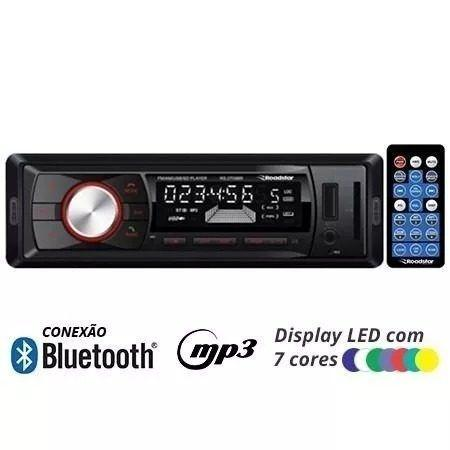 Rádio Mp3 Player Automotivo Bluetooth Roadstar Rs-2709br Fm Usb Controle