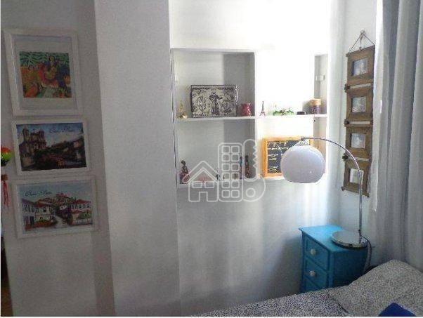 Apartamento com 1 dormitório à venda, 50 m² por R$ 302.100,00 - Icaraí - Niterói/RJ - Foto 7