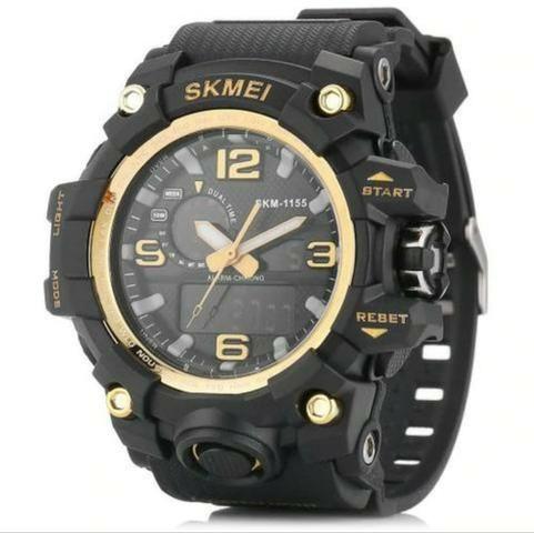 b55d17433cb Relógio Skmei preto e dourado ORIGINAL - Bijouterias