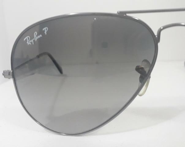 Óculos De Sol Ray-Ban Aviator Cinza - Bijouterias 1f33f26930521