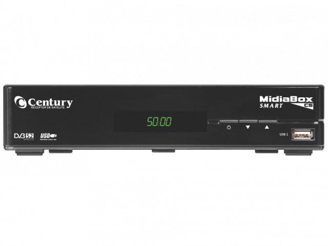 Antena Parabolica Sintonizador Midia Box Smart C5 Century