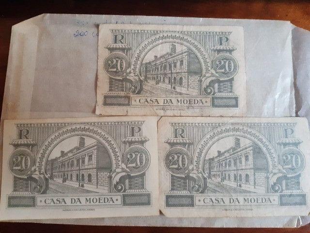 3 cédulas 20 Centavos Republica Portuguesa 1925 - Foto 5