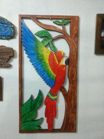 Escultura de Madeira pintado a mão - Foto 4