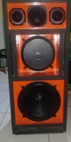 caixa de som completa fones de 12 e 15 magnun 350w novos