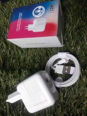 Carregador Fonte + Cabo Lighting iPhone iPad Bivolt 12w Usb - Foto 6