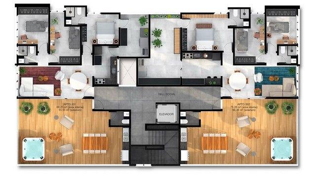 Apartamento com 58,71m² no Bairro de Tambauzinho