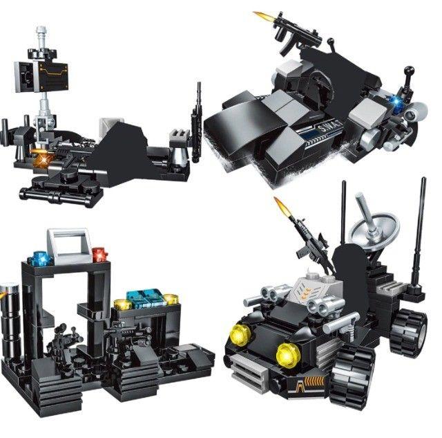 Lego Blocos de Montar Police Presente Swat Brinquedo  - Foto 5