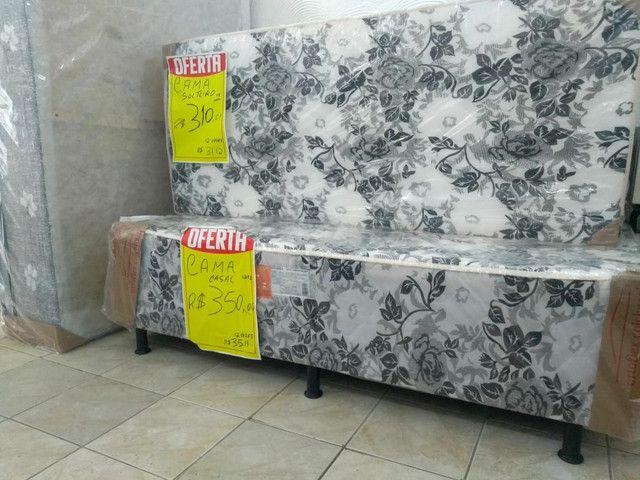 cama casal 290,00 Bicama R$ 280,00  Cama luxo gigante  grandona 450,00   ipitanga - Foto 3